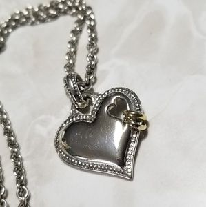 Scott kay sterling silver heart 14k ring necklace